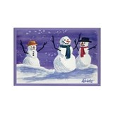 Snowmen Rectangle Magnet