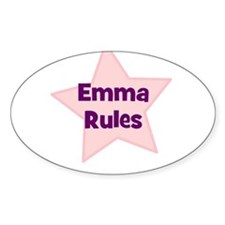 Emma Rules Oval Decal