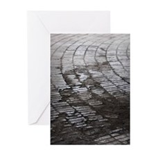 Eroded cobblestone surfa Greeting Cards (Pk of 10)
