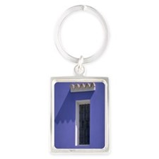 Window on a building, Ibiza, Bal Portrait Keychain