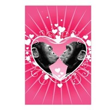 Two chimpanzees kissing Postcards (Package of 8)