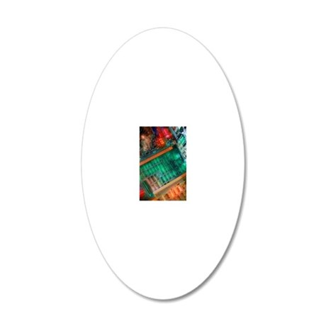 Circuit boards 20x12 Oval Wall Decal