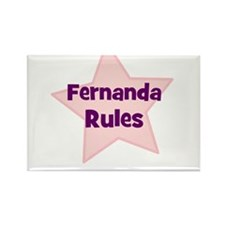Fernanda Rules Rectangle Magnet