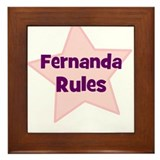 Fernanda Rules Framed Tile