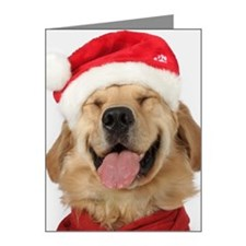Golden retriever smiling San Note Cards (Pk of 10)