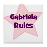 Gabriela Rules Tile Coaster
