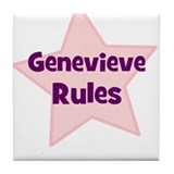 Genevieve Rules Tile Coaster