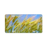 Field of wheat Aluminum License Plate