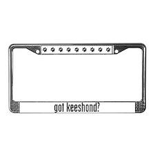 Got Keeshond? License Plate Frame