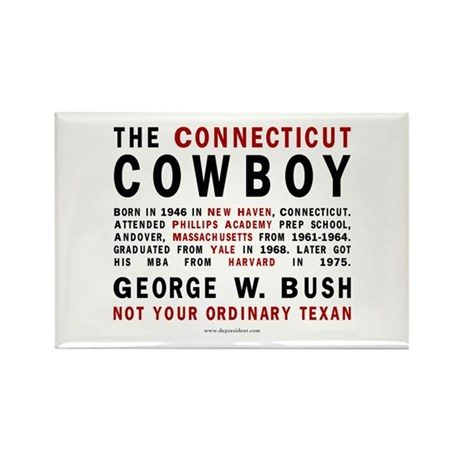 The Connecticut Cowboy Rectangle Magnet