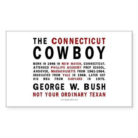 The Connecticut Cowboy Rectangle Sticker
