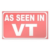 As Seen in VT Rectangular Decal