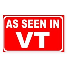 As Seen in VT Rectangular Decal