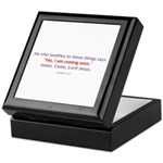 Amen, Come Lord Jesus! Keepsake Box