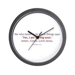 Amen, Come Lord Jesus! Wall Clock
