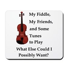 Unique Fiddle Mousepad