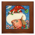 Candy Cane Elf Framed Tile