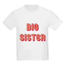 Retro Big Sister Kids T-Shirt