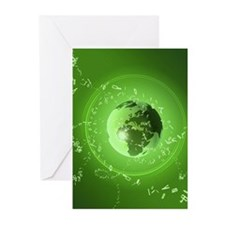 International connectedn Greeting Cards (Pk of 10)