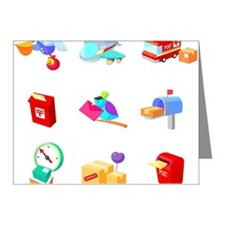 Modes of postal services Note Cards (Pk of 20)