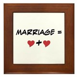 Marriage Equals Framed Tile