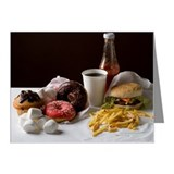 Stereotypical American fast  Note Cards (Pk of 10)