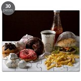 Stereotypical American fast food meal and s Puzzle