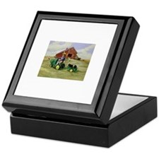 Cute Tractors Keepsake Box