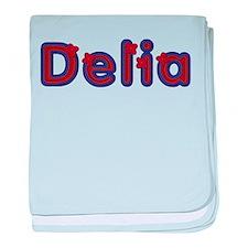 Delia Red Caps baby blanket