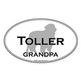 Toller GRANDPA Oval Decal