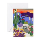 Unique Hummingbird art Greeting Cards (Pk of 10)