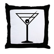 Martini Drink Icon Throw Pillow