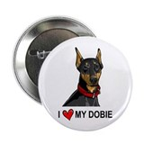 "I Heart My Dobie 2.25"" Button (100 pack)"