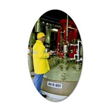 Man inspecting chemical indu Wall Decal