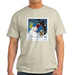 Snowman Unchains Dog Ash Grey T-Shirt