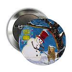 Snowman Unchains Dog Button