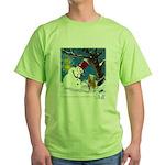 Snowman Unchains Dog Green T-Shirt