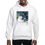 Snowman Unchains Dog Hooded Sweatshirt
