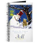 Snowman Unchains Dog Journal