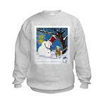 Snowman Unchains Dog Kids Sweatshirt