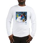 Snowman Unchains Dog Long Sleeve T-Shirt