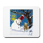Snowman Unchains Dog Mousepad