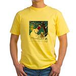 Snowman Unchains Dog Yellow T-Shirt