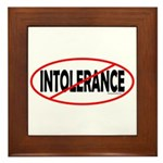 No Intolerance! Framed Tile