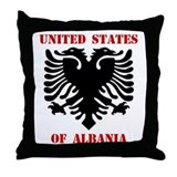 United States of Albania Throw Pillow