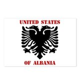 United States of Albania Postcards (Package of 8)
