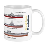 USS Nimitz CVN-68 and USS Hornet CV-12 Small Mug