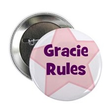 "Gracie Rules 2.25"" Button (10 pack)"