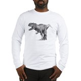 T Rex Black and Whie Long Sleeve T-Shirt