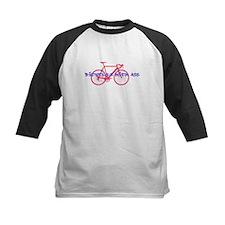 Biking kicks ass Baseball Jersey